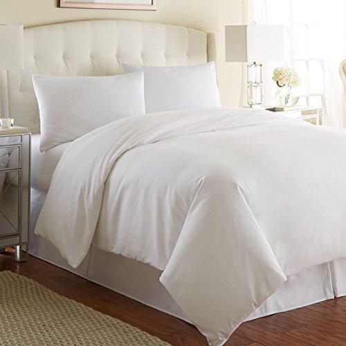 100% TC200edredón de algodón egipcio blanco con funda de almohada (S), individual,...