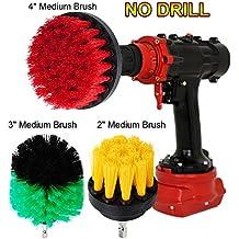 Oxoxo drill Brush–5,1cm 7,6cm 10,2cm potenza perforazione media rigidità scrub spazzolone per pulizia doccia vasche gomme per piastrelle bagno, tappeto da cucina