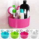 #1: Bulfyss 1 Piece Triangle Bath and Kitchen Storage Shelf with Suction Cup Mounting for Keeping Toiletries, Kitchen Items and More