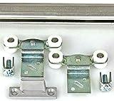 Mantion Schiebetürbeschlag MEDIUM B-100 cm flach und schmal für 1 Möbeltür