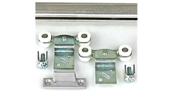 Doppelschiene Mantion Schiebetürbeschlag Tubel 28 150 cm für 2 Schranktüren