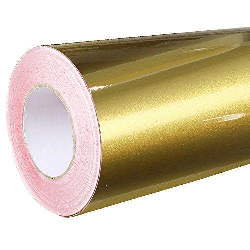 4,41€/m² Rapid Teck® Glanz Folie - 091 Gold - Klebefolie - 5m x 63cm - Plotterfolie - selbstklebende Folie - auch als Moebelfolie - Dekofolie