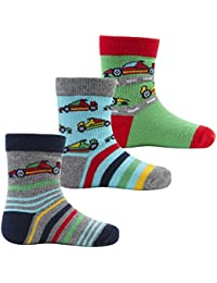 Zest Baby Boys Transport & Sea Characters Cotton Rich Socks