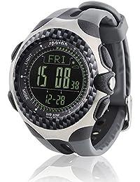 Spovan® Reloj Barómetro Altímetro Temperatura Termómetro Brújula Compás cronómetro metereológica FECHA reloj alpinismo Camping esquí