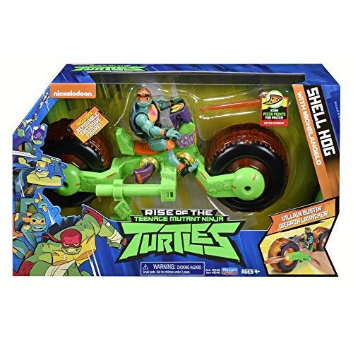Teenage Mutant Ninja Turtles tuab5100die Rise Fahrzeug mit Figur-Shell Hog mit Mikey MACAPAGAL
