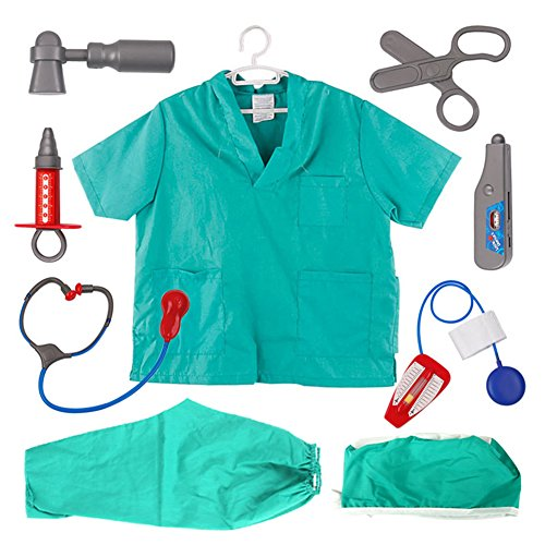 TopTie Doctor Rolle Spielen Set/Kleid bis Chirurg Kostüme Set für Kinder