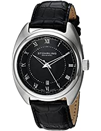 (CERTIFIED REFURBISHED) Stuhrling Original Symphony Analog Black Dial Men's Watch - 728.02