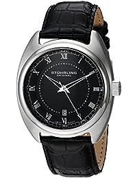 Stuhrling Original Symphony Twenty - Reloj de cuarzo, para hombre, con correa de cuero, color negro