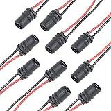 TOMALL 10pcs T10 194 ronde femelle pré-câblée pour le remplacement des ampoules LED