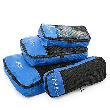 Aerolite equipaje de viaje de embalaje cubos Organizador de 4 piezas Set