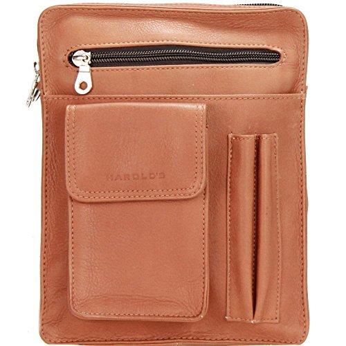 Harold's Country sac homme cuir 18 cm cognac