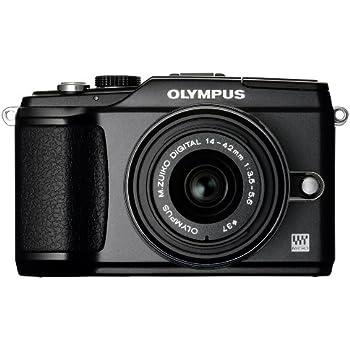 Olympus E-PL2 Systemkamera (12 Megapixel, 7,6 cm (3 Zoll) Display, bildstabilisiert) schwarz mit 14-42mm Objektiv schwarz