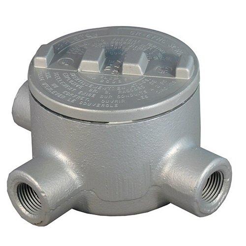 Appleton GRT100-A Conduit Outlet Box, Hazardous Location, Style T, Aluminum, 1 Hub by Appleton - Conduit Outlet Box