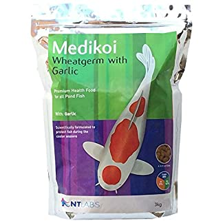 NT Labs Medikoi Wheatgerm with Garlic 1.75kg Pond Fish Pellet Food 12