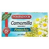 Pompadour - Tã© Per Infuso Camomilla Setacciata e Finocchio - 18 Bustine da 2 gr