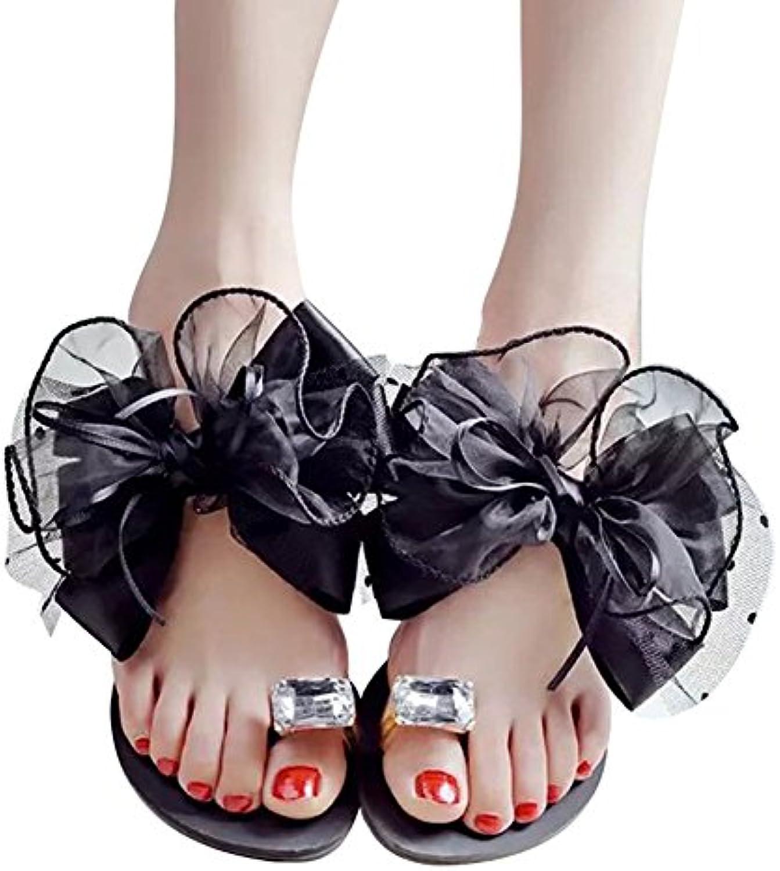 Hongcao Mujer Sandalias Zapatos - Señoras Zapatillas Chancletas Flip Flop Zapatos, Verano Plano Rhinestones Zapatillas...