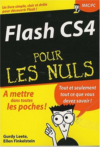 FLASH CS4 POCHE POUR LES NULS