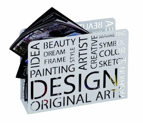 Haku-Möbel 44395 Zeitungsständer 35 x 10 x 26 cm, weiß