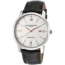 Baume & Mercier - Reloj de pulsera hombre, piel, color negro