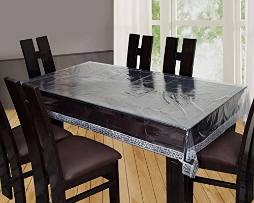 Yellow Weaves™ Dining Table Cover Waterproof Transparent 6 Seater 60X90 Inches