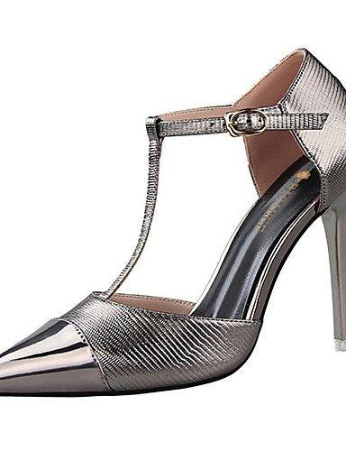 WSS 2016 Chaussures Femme-Décontracté-Noir / Rouge / Argent / Gris / Or-Talon Aiguille-Talons-Talons-Polyuréthane black-us5.5 / eu36 / uk3.5 / cn35