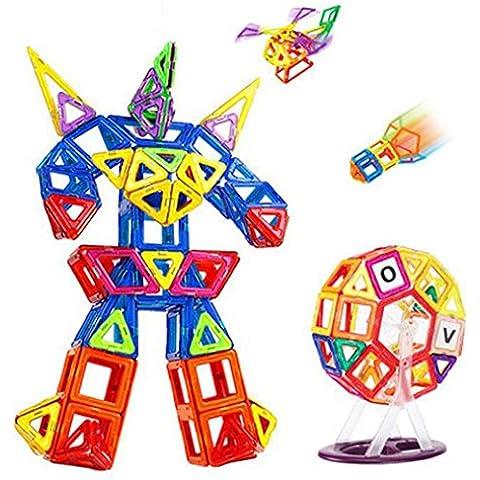 Wisdom Serie di blocchi magnetici per promuovere i mattoni di bambini di puzzle magnete Giocattoli per costruire pezzi di blocchi magnetici ( colore : 92 Upgrade )