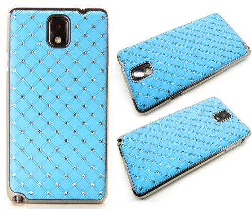 Exklusive-Cad SAM-S5-StarBling-Hellblau Samsung Galaxy S5 i9600 chrom STraSS BlinG COVER Hard CASE HÜLLE tasche HotPink Chrom Hard Case