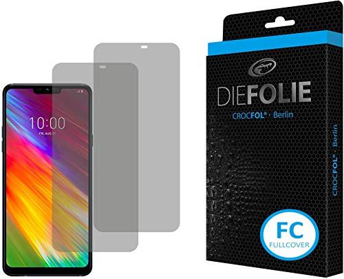 Crocfol Displayschutz für LG G7 Fit: 2X DIEFOLIE Schutzfolie, 1x DASFLÜSSIGGLAS flüssiges Glas - Fullcover Folie zur Nutzung ohne Schutzhülle