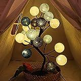ZKKAW Luci dell'albero del LED, luci di Tavolo da Tavolo Colorate Palla di Cotone Pizzo Notte Romantica Luce Adatta per la Festa di Nozze Soggiorno Decorazione Interna casa,D