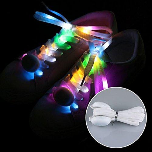 Leuchtende Schuhbänder, LED, mehrfarbig, modisch, batteriebetrieben, blinkend, bunte Schuhbänder Free Size Changeable 5 ()
