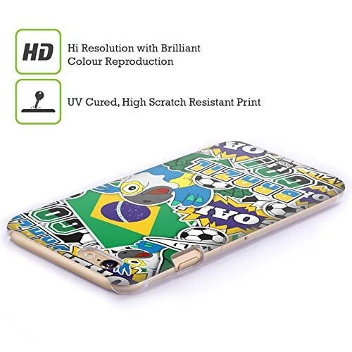 Head Case Designs Francia Calcio Icone Dei Paesi Cover Retro Rigida per Apple iPhone 7 Plus / 8 Plus Brazile