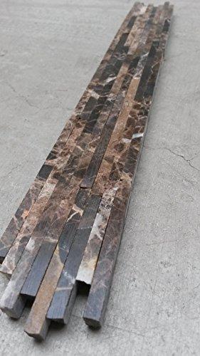 Marmor Mosaik Bordüre 4x30 Cm Matchstick Naturstein Fliesen Braun Bad Dusche