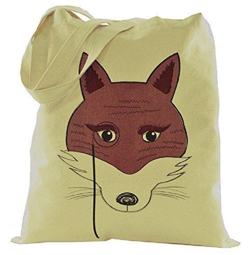 Damen Einkaufstasche Tier Schulter Leinen Fox Baumwolle Design qqwB4z