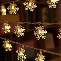 شريط إضاءة مقاس 10 أمتار مكون من 100 لمبة ليد يتميز بإضاءة قوية دافئة ذات تصميم خيالي ويستخدم في تزيين أشجار الكريسماس والمنزل وحفلات الزفاف والحدائق