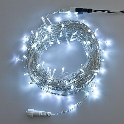 LuminalPark - Guirnalda de Luces, 30 m, Serie PLB, 300 LED luz fría, cableado transparente, juego de luces, Luces de Navidad aptas para exteriores