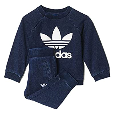 adidas Set - I Denim Crew blue size: 62 cm tall - 0 to 3 months