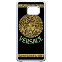 Samsung Galaxy S6 Edge Plus White Cell Phone Case Versace Brand Logo Custom Case Cover A11U524538