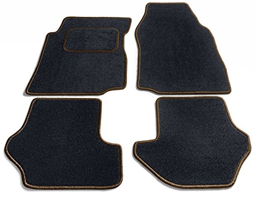 Preisvergleich Produktbild JediMats 42055L-Pre-Dunkelbr-Schw Prestige Maßgeschneiderte Fußmatte für Ihr Auto, Schwarz