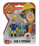 Simba 109257651 - Feuerwehrmann Sam Figuren Doppelpack 7,5 cm, sortiert, 1 packung Test