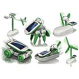 #8: Rose International 6 in 1 Educational Solar Power Energy Robot Toy Kit, White/Green