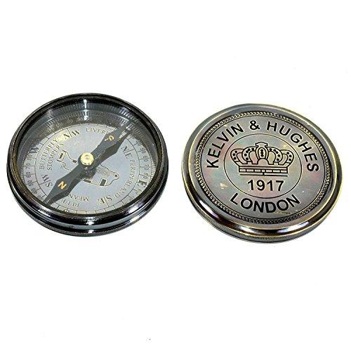 Hello.Nauticals.Store Messing-Kompass, Kelvin & Hughes 1917 Messing-Kompass/Antik-Kompass #54847jgh -