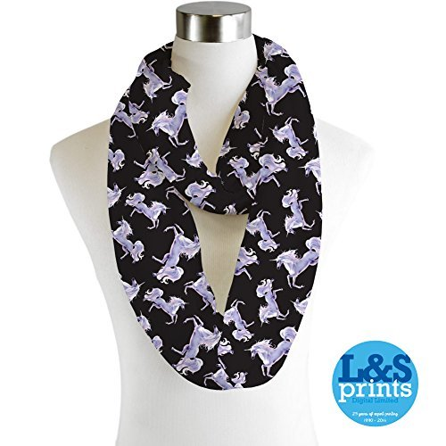 Einhorn-Design-Infinity-Schal-Jersey-oder-Chiffon-Unisex-Fashion-Loop-Schals