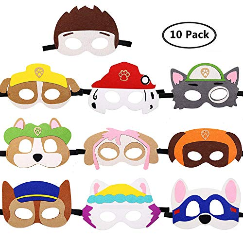 ol Spielzeug Puppy Party Masken Geburtstag Cosplay Charakter Party Favors Supplies für Kinder (Set von 10) ()