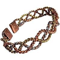 magnetisch massives Kupfer 3 Colour Spitze Armband - 2 Handgelenk Größen - CCB -mb16 - kupfer, Small - 153mm (... preisvergleich bei billige-tabletten.eu