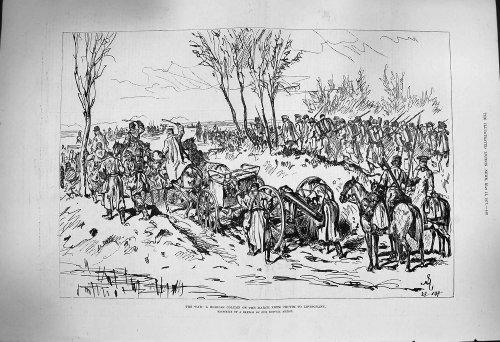 Armée Russe de Mars Chotim Liptschany de Fléau de 1877 Guerres [Cuisine et Maison] par original old antique victorian print
