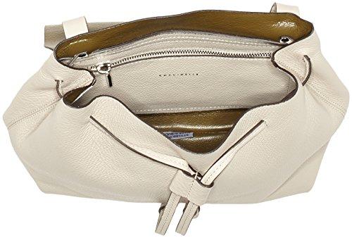 Coccinelle Damen Delphine Rucksackhandtasche, 12x27x26 cm Mehrfarbig (Seashell/Olive)