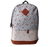 Rcool Unisex modisch Canvas Rucksack Schultasche (Himmelblau)