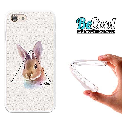 BeCool®- Coque Etui Housse en GEL Flex Silicone TPU Iphone 8, Carcasse TPU fabriquée avec la meilleure Silicone, protège et s'adapte a la perfection a ton Smartphone et avec notre design exclusif. Anc L1367