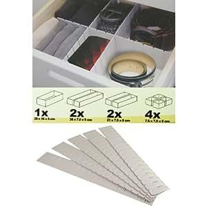 Mm delicious s parateurs de tiroir universels blanc for Separateur de tiroir de cuisine reglable