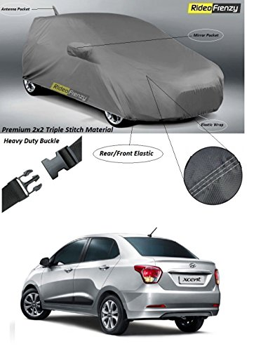 RideoFrenzy Hyundai Xcent Body Cover with Mirror & Antenna Pocket